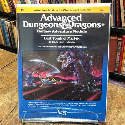 Dungeons & Dragons, Advanced - Lost Tomb of Martek
