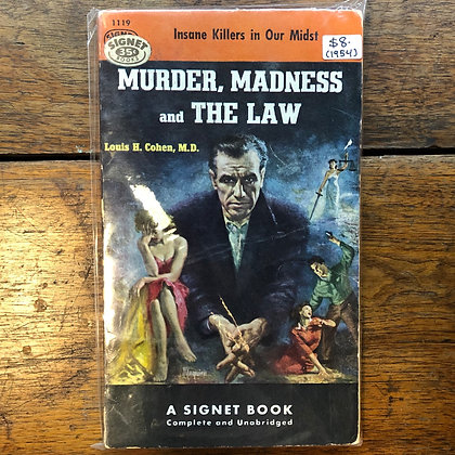 Cohen, Louis H. - Murder, Madness, and the Law paperback