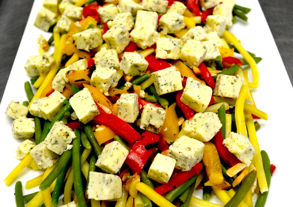 Beans and Havarti Cheese Salad