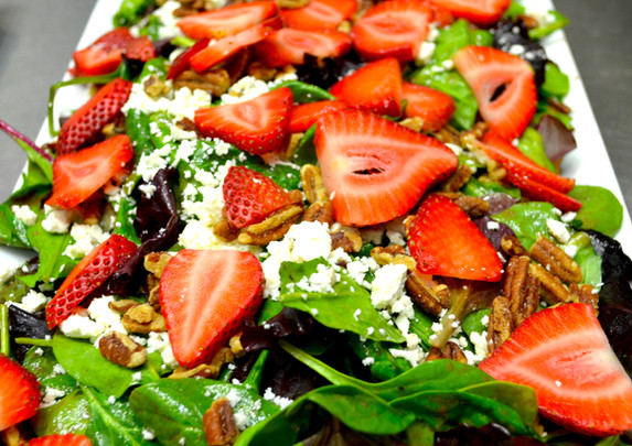 Field Greens and Strawberry Salad