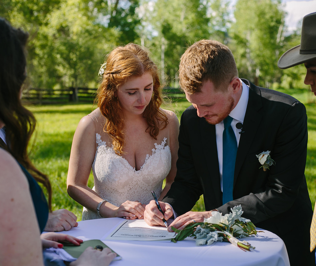 Outdoor weddings don't just happen, they are planned! Rustic Colorado Outdoor Wedding. Barn Wedding at a private home.