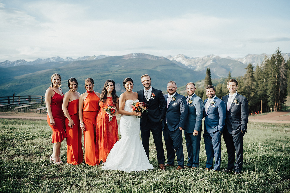 Vail Mountain Wedding. The 10th colorful wedding. Quintessential Colorado destination wedding.