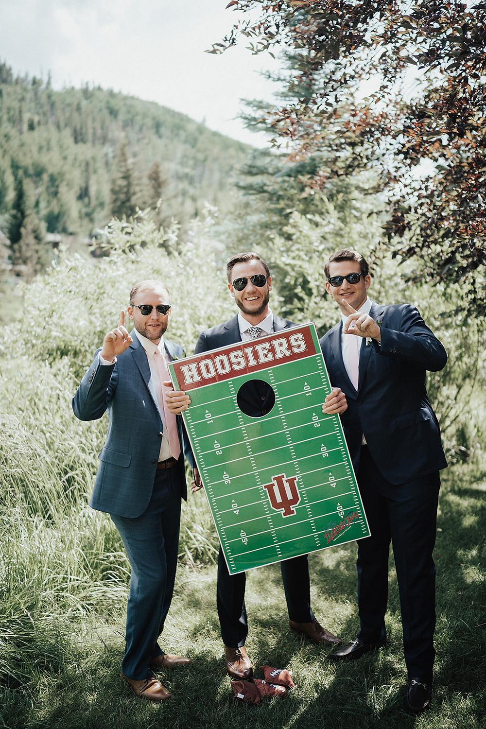 Go Hoosiers. Vail Mountain Wedding. The 10th colorful wedding. Quintessential Colorado destination wedding.