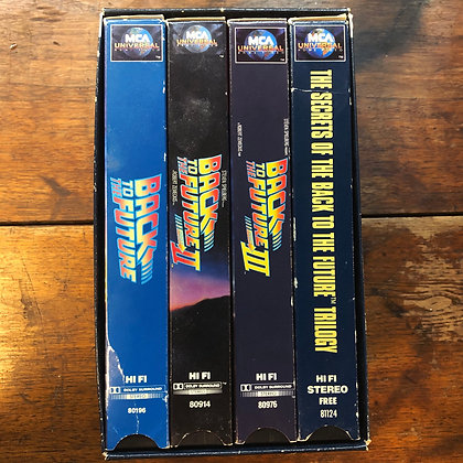 Back to the Future Limited Edition Box Set + Secrets of the Trilogy VHS