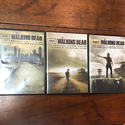 Walking Dead seasons 1,2,3 DVD Bundle