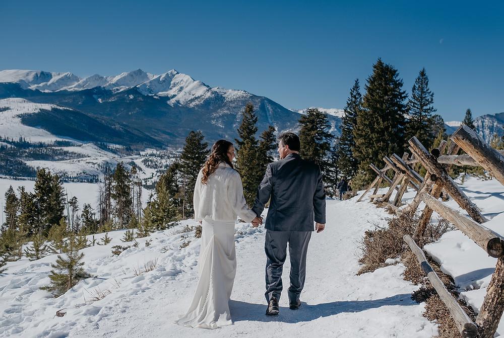 Sapphire Point Overlook Elopement. Colorado Winter Wedding. Mountain Wedding.
