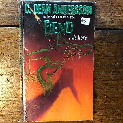Andersson, Dean - FIEND paperback