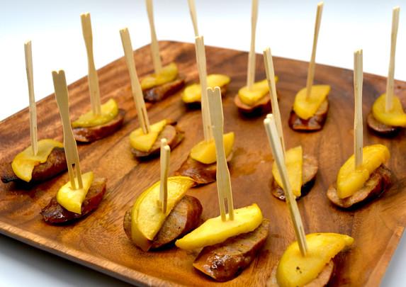 Sausage and Apple Skewers