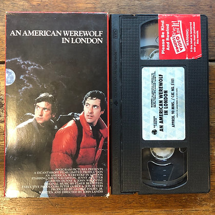 An American Werewolf in a London VHS *previous rental*
