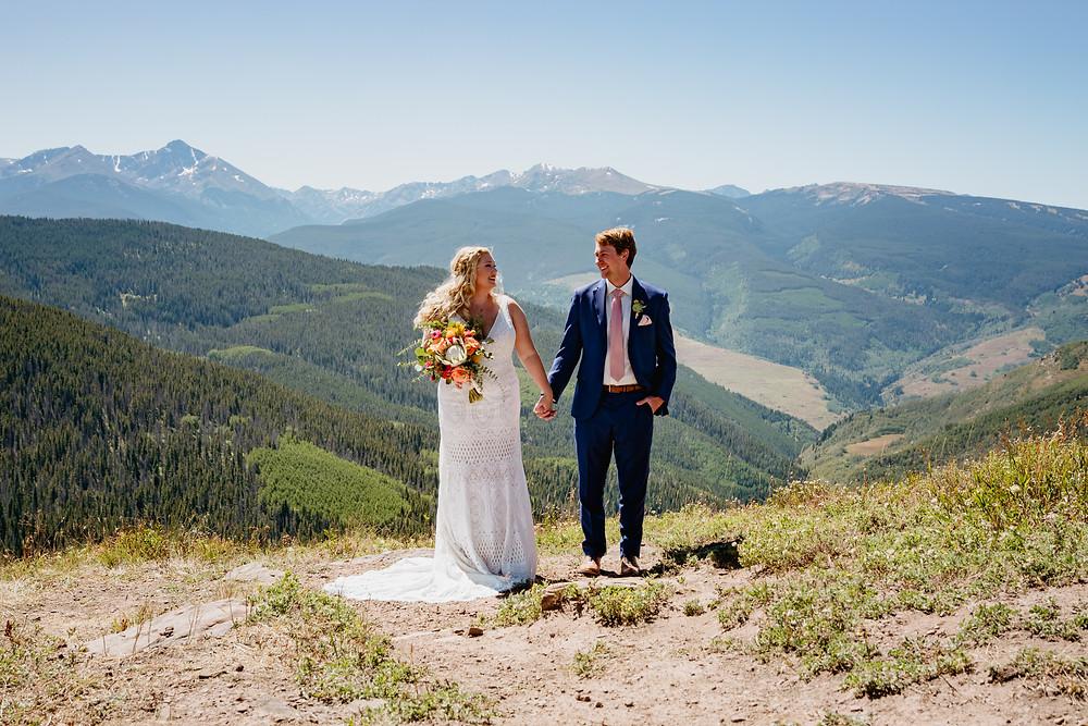 Colorful Vail Wedding, destination wedding at Donovan Pavilion in Vail Colorado
