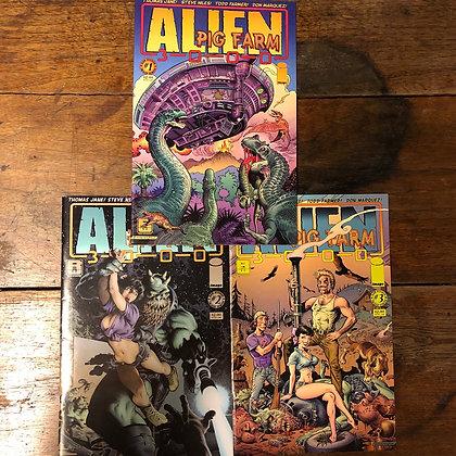 Alien Pig Farm 3000 books #1-3 Image comics 2007