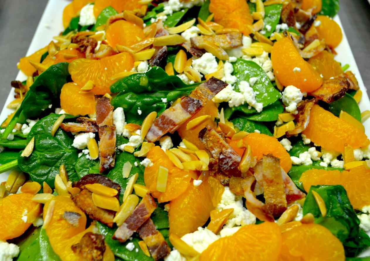 Spinach and Mandarian Salad