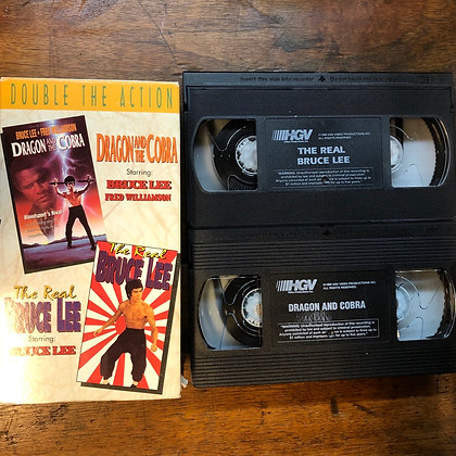 BRUCE LEE - Dragon and the Cobra/The Real Bruce Lee VHS