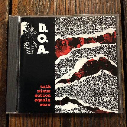 D.O.A. : Talk Minus Action Equals Zero - CD