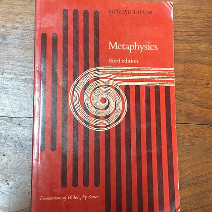Taylor, Richard - Metaphysics third edition