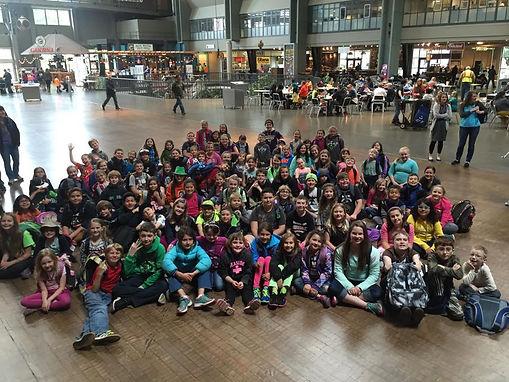 TEAM students enjoying the Seattle Children's Theatre