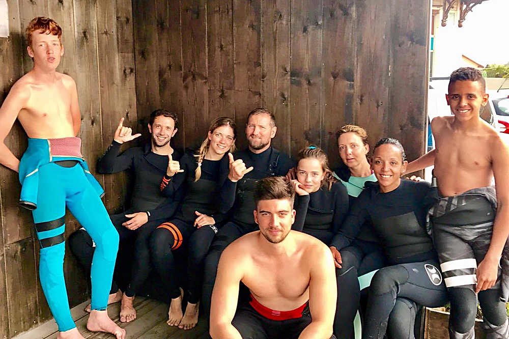 Groupe du cours de surf du 27 mai 2017