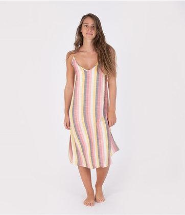 SLIP DRESS W/TIE STRAP