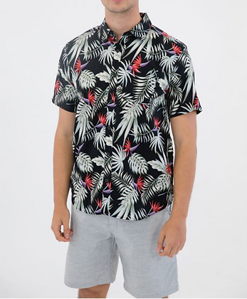 EXOTIC STRETCH WOVEN S/S - HURLEY MEN