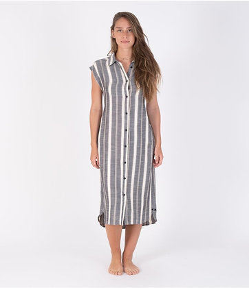 BUTTON FRONT MIDI SHIRT DRESS