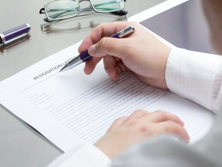 Resignations: Contractual Obligations