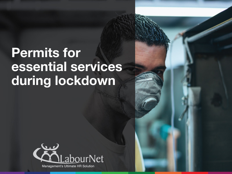 Permits for essential services during lockdown