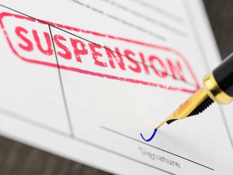 Important Notice: Precautionary Suspension