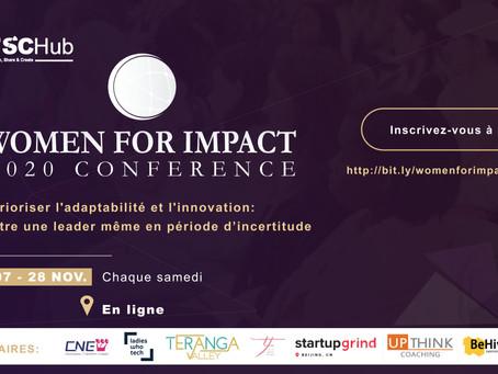 La deuxième édition de la Women For Impact Conference se tiendra du 7 au 28 Novembre 2020