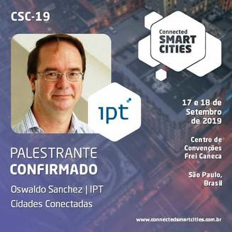 "Palestra ""Cidades Conectadas"" no evento Connected Smart Cities, de Oswaldo Sanchez"