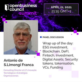 Antônio Limongi apresenta no OpenBusiness Council Summit