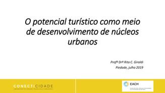 Palestras na ASSEPT: O potencial turístico como meio de desenvolvimento de núcleos urbanos - Profª D