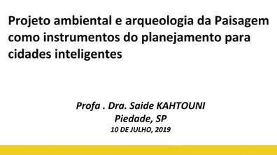 Palestras na ASSEPT: Projeto ambiental e arqueologia da Paisagem como instrumentos do planejamento p
