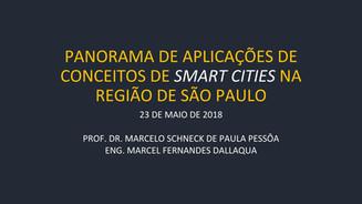 Apresentação: PANORAMA DE APLICAÇÕES DE CONCEITOS DE SMART CITIES NA REGIÃO DE SÃO PAULO
