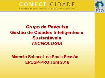 Apresentação: GESTÃO DE CIDADES INTELIGENTES E SUSTENTÁVEIS - TECNOLOGIA