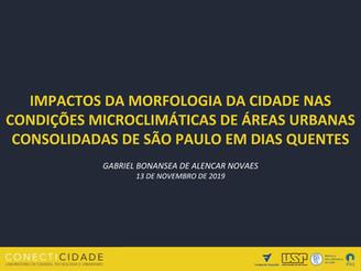 """Apresentação """"IMPACTOS DA MORFOLOGIA DA CIDADE NAS CONDIÇÕES MICROCLIMÁTICAS DE ÁREAS URBANAS C"""