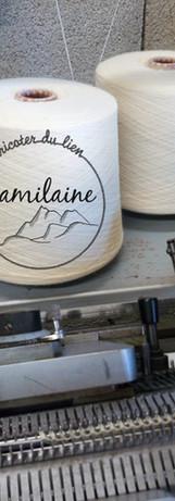 cone de laine machine à tricoter
