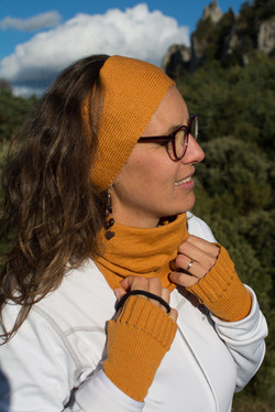 Bandeau couleur Abricot MERINOS
