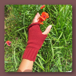 a4.mitaine 4 rouge coquelicot