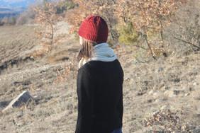 Bonnet rouge Basque Mérinos avec un Tour