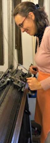 Machine à tricoter double fonture