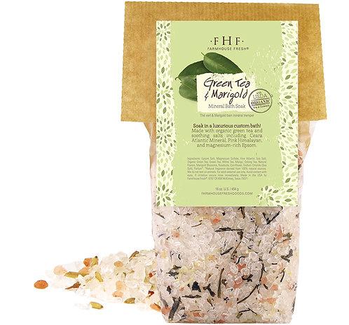 Green Tea & Marigold Mineral Bath Soak