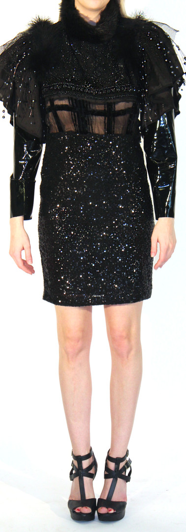 Betsey Sequin Stretch Mini Dress