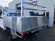 Toyota Hilux wih 1 tonne aluminium tay