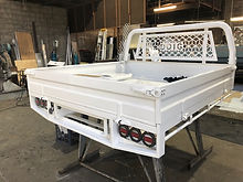 Toyota Hilux Dual Cab Maxi Series with custom steel tray