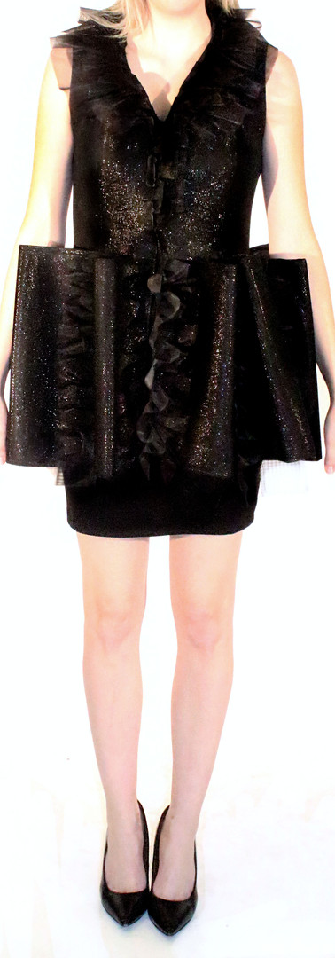 Shimmering Ruffle Loofa Dress