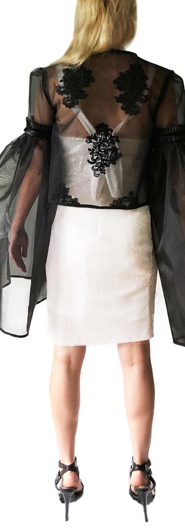 Diamond Sequined Dress, and Ebony Bell Sleeve Jacket
