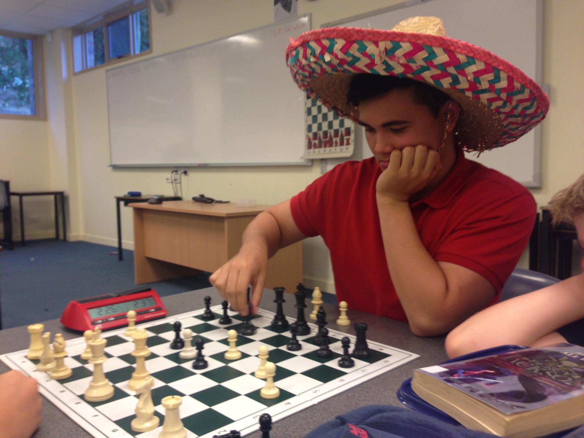 Alex has his thinking cap on!