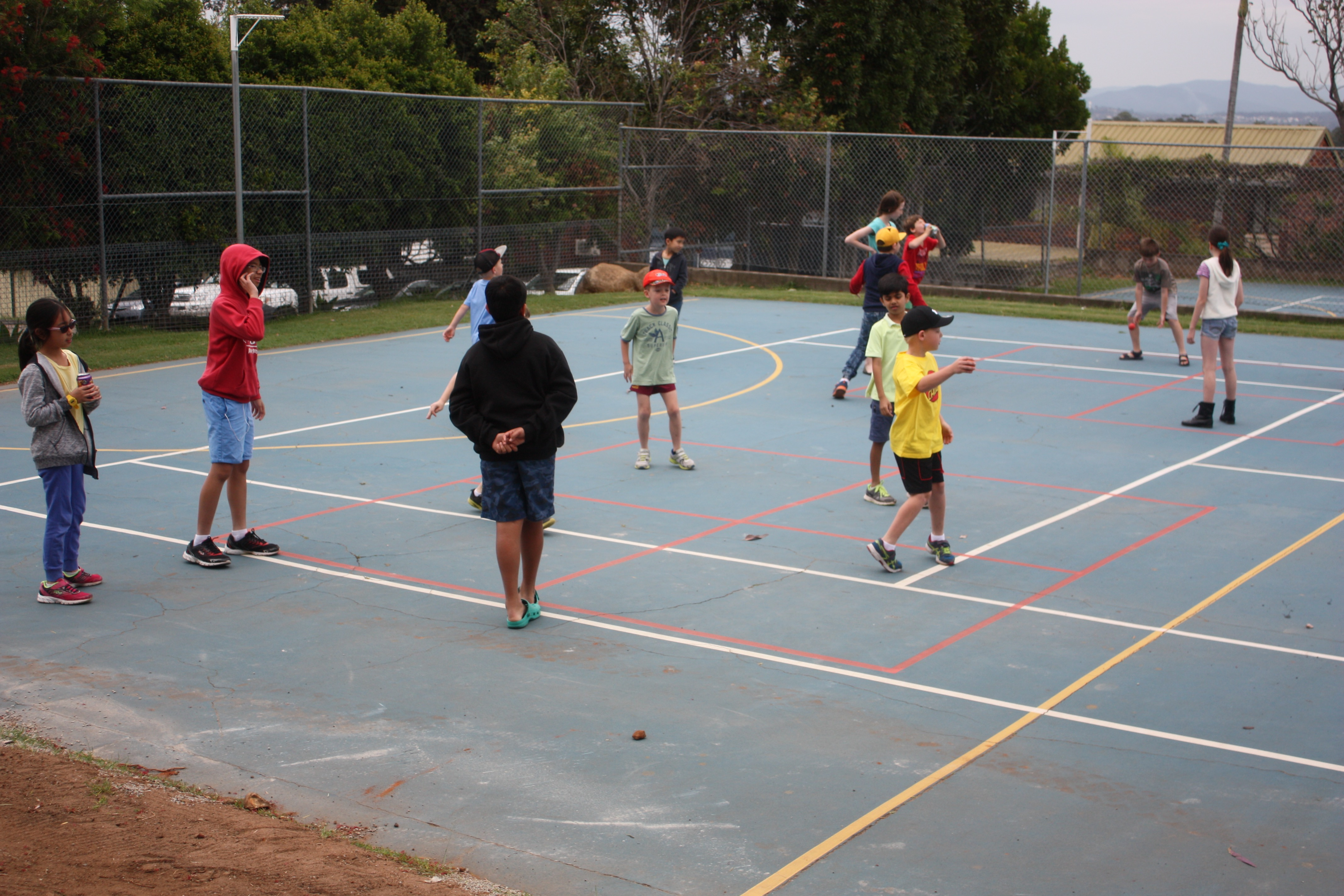 Handball in between games!