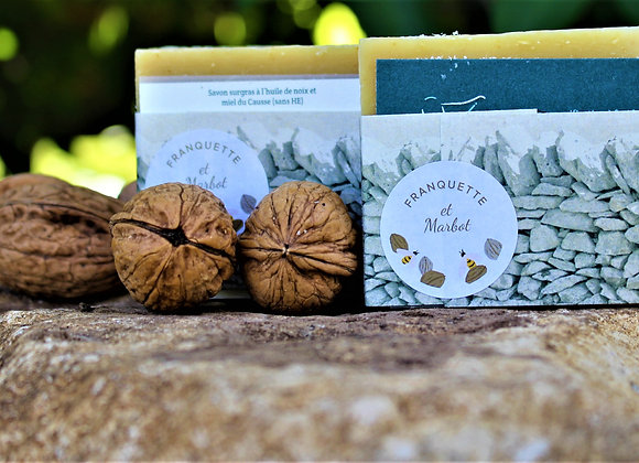Savon surgras artisanal à l'huile de noix