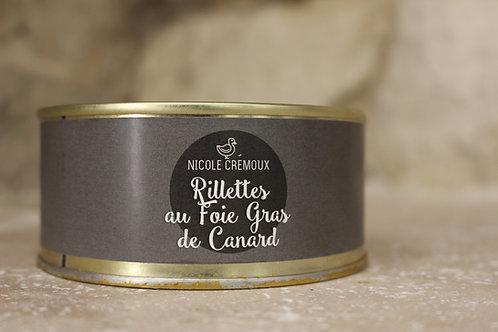 Rillettes au foie gras de canard 250g